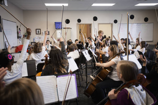 Playing in an orchestra teaches teamwork, says retired head teacher