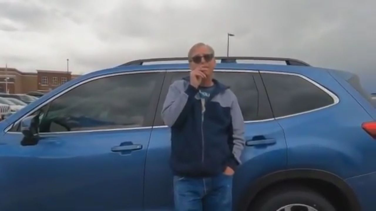 A man appears to meet a 15-year-old boy in a department store parking lot